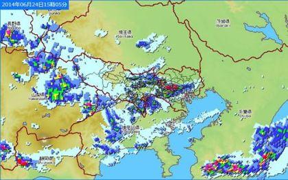 梅雨末期の雨雲
