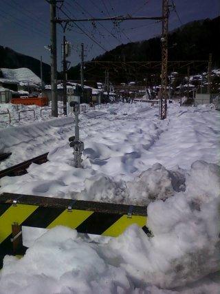 古里駅は除雪作業始まる