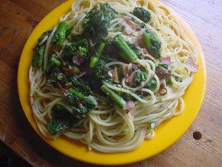 のらぼう菜のスパゲッティ