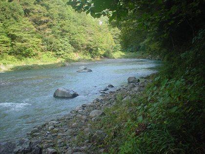 台風後の奥多摩川4
