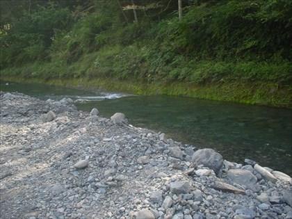 開設直前の小菅川冬季ニジマス釣場・5